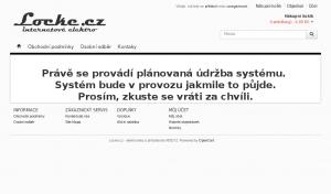 Vzled internetové stránky obchodu Locke.cz - náhradní baterie a elektronika