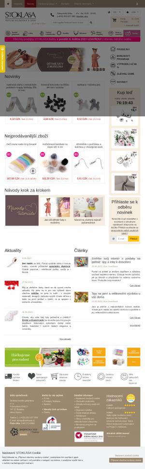 Vzled internetové stránky obchodu Stoklasa