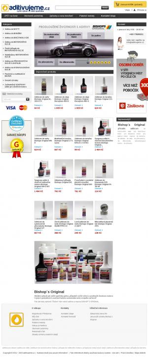 Vzled internetové stránky obchodu aditivujeme.cz