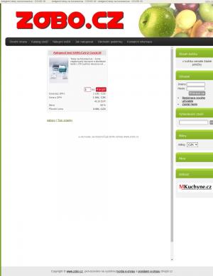 Vzled internetové stránky obchodu ZOBO.cz