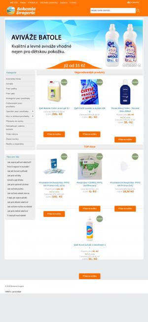 Vzled internetové stránky obchodu Bohemiadrogerie
