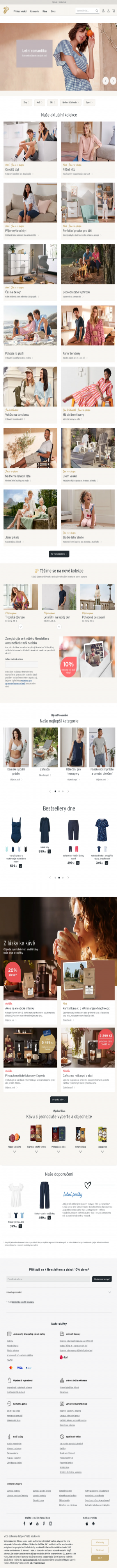 Vzled internetové stránky obchodu Tchibo