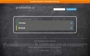Vzled internetové stránky obchodu PradloElisa.cz