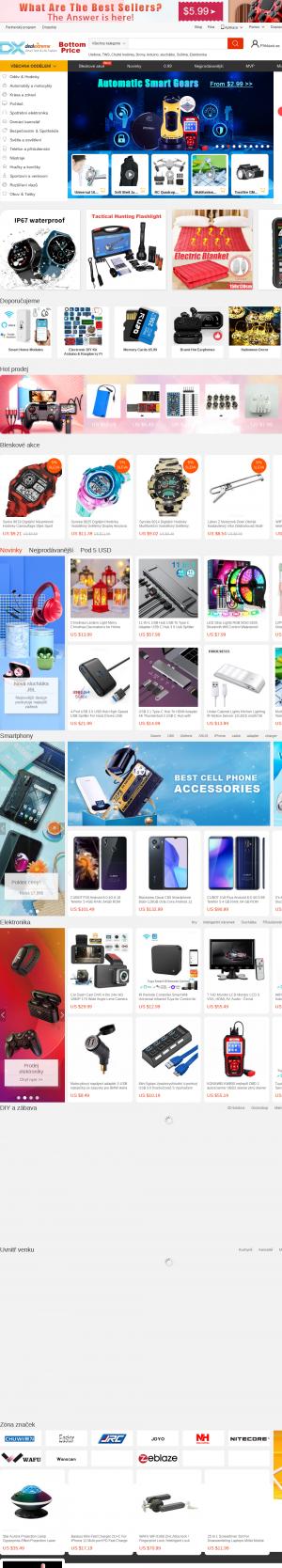 Vzled internetové stránky obchodu DealExtreme