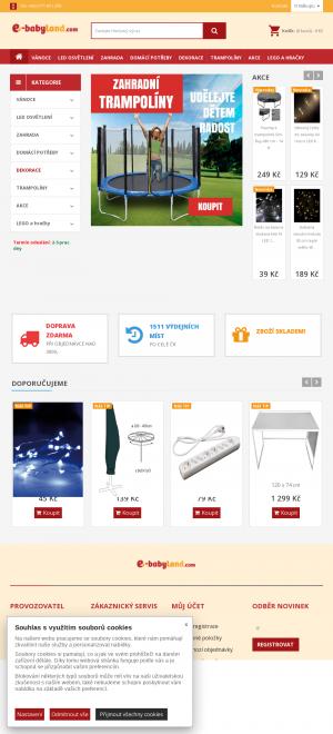 Vzled internetové stránky obchodu e-babyland.com