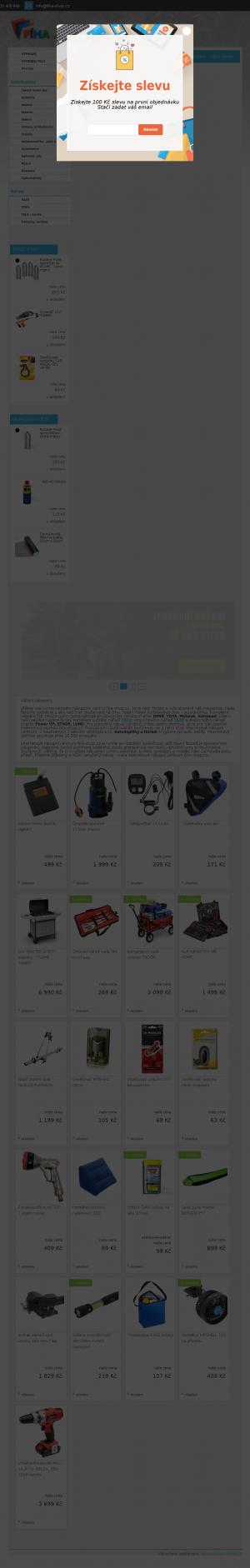 Vzled internetové stránky obchodu Fíha shop