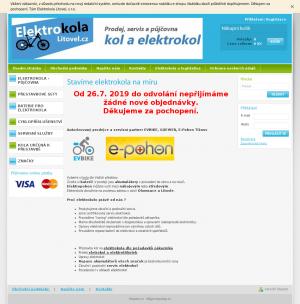 Vzled internetové stránky obchodu RCLitovel.cz
