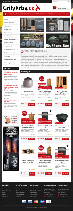 Vzled internetové stránky obchodu GrilyKrby.cz