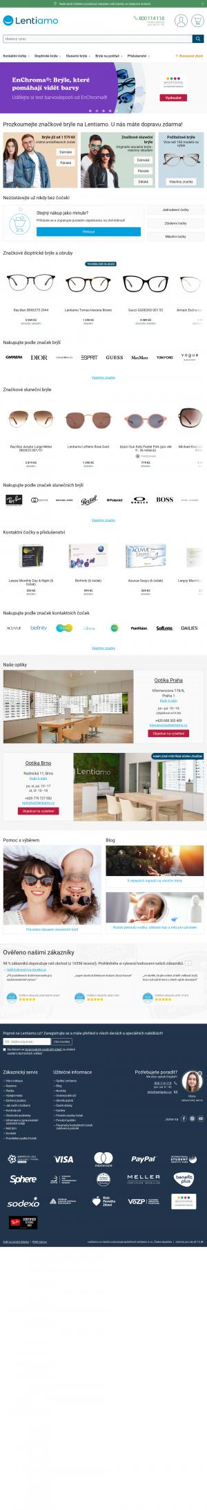Vzled internetové stránky obchodu VašeČočky