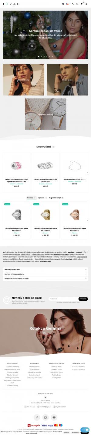 Vzled internetové stránky obchodu Morellato-Store.cz