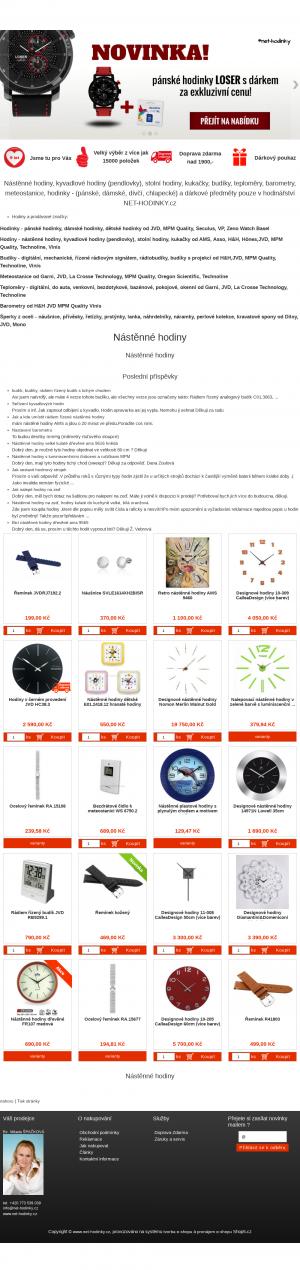 Vzled internetové stránky obchodu Net-hodinky.cz