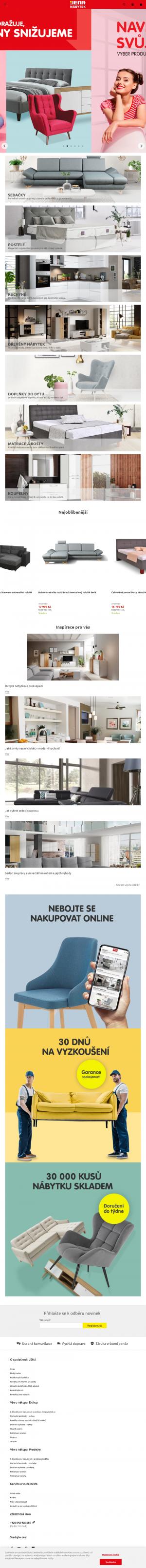 Vzled internetové stránky obchodu JENA nábytek