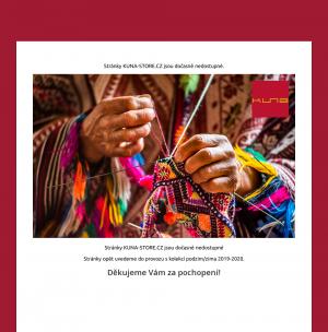 Vzled internetové stránky obchodu Kuna - Svetry Alpaka, Vikuňa, Bavlna pima