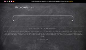 Vzled internetové stránky obchodu Italy-design.cz