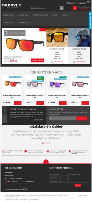 Vzled internetové stránky obchodu okbryle.cz