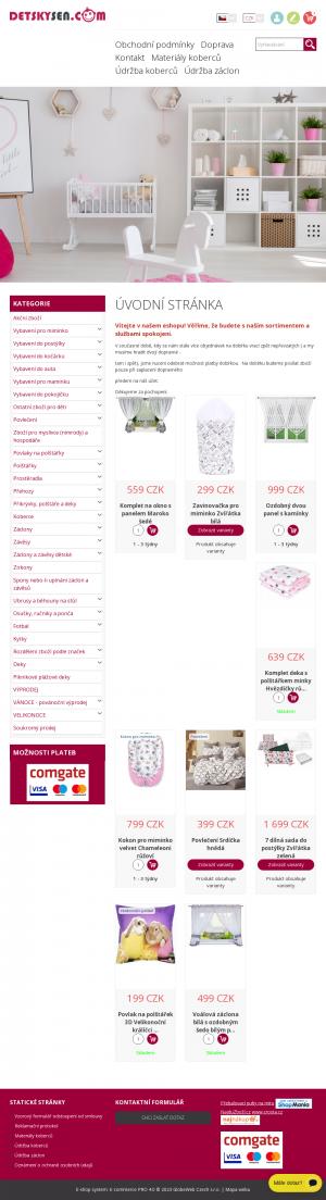 Vzled internetové stránky obchodu Dětský sen.com
