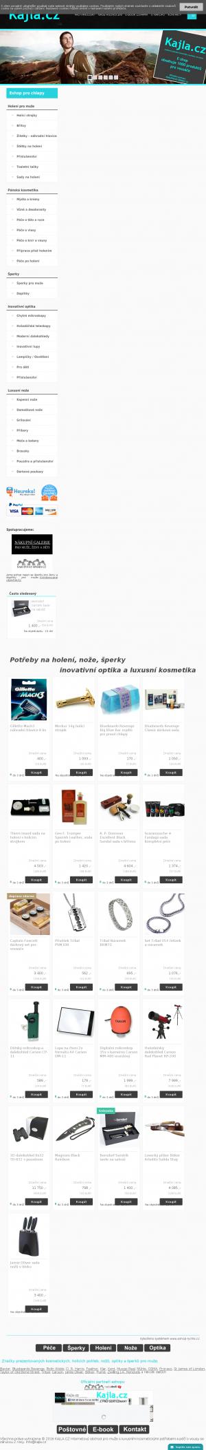Vzled internetové stránky obchodu Kajla.cz