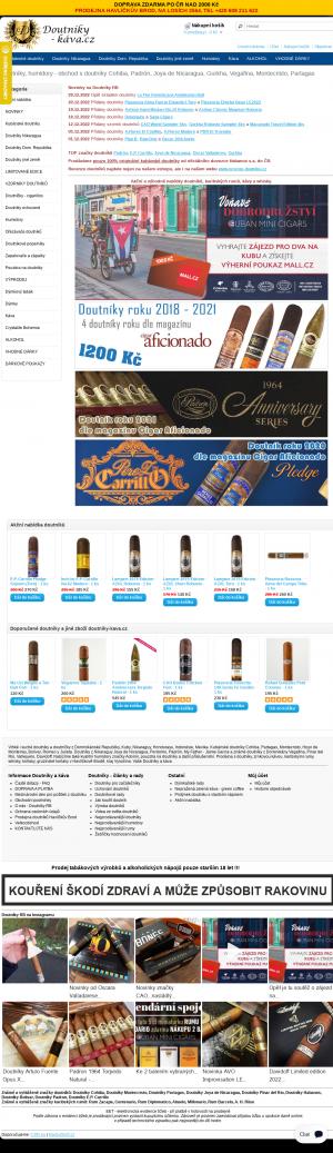 Vzled internetové stránky obchodu Doutníky RB