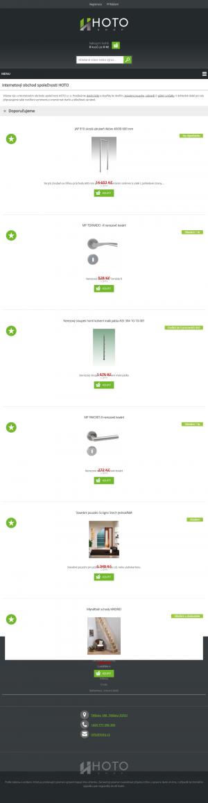 Vzled internetové stránky obchodu HOTOshop