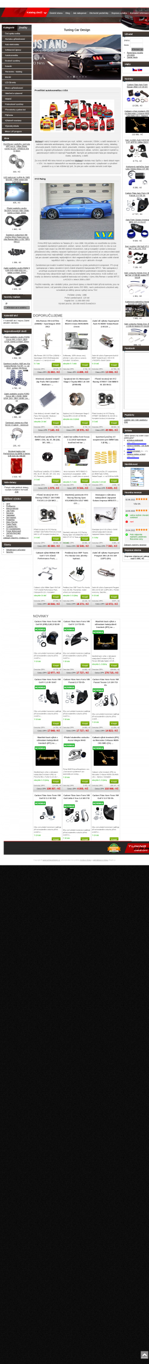 Vzled internetové stránky obchodu Tuning Car Design