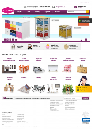 Vzled internetové stránky obchodu Tempo nábytek Kondela