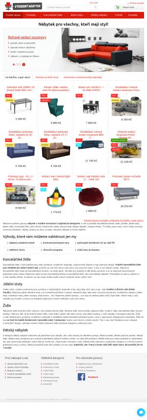 Vzled internetové stránky obchodu Výhodný nábytek