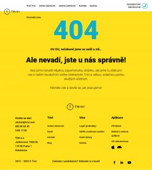 Vzled internetové stránky obchodu TRIVI
