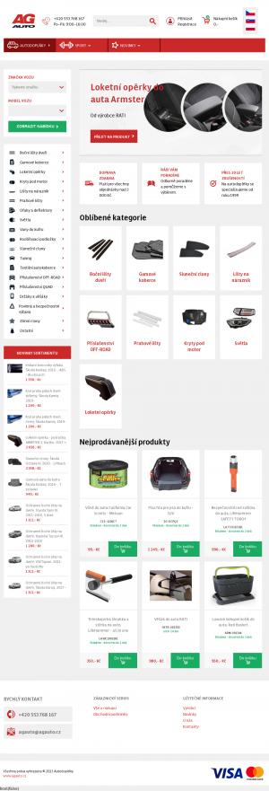 Vzled internetové stránky obchodu AG AUTO