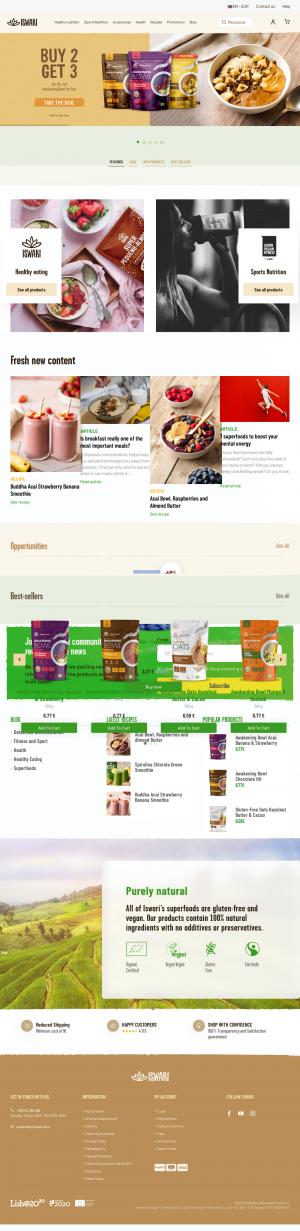 Vzled internetové stránky obchodu Iswari
