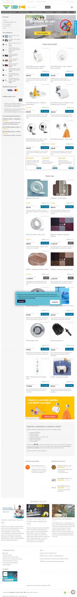 Vzled internetové stránky obchodu Vše do koupelen