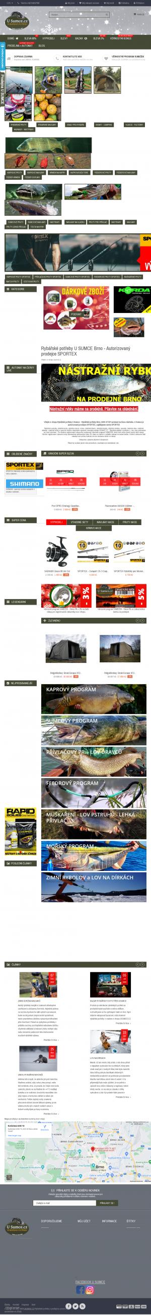Vzled internetové stránky obchodu U SUMCE