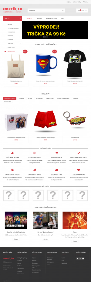 Vzled internetové stránky obchodu Zmerci.to