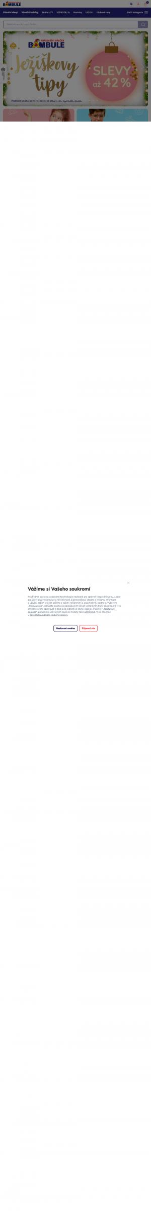 Vzled internetové stránky obchodu Bambule Království hraček