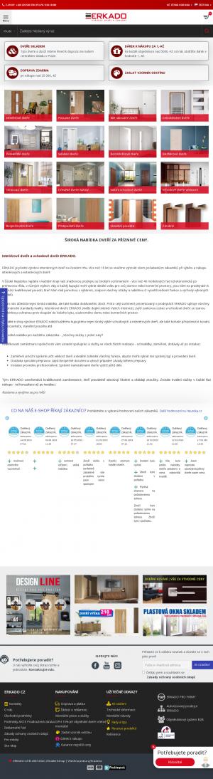 Vzled internetové stránky obchodu Dveře ERKADO