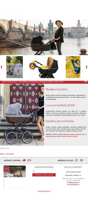 Vzled internetové stránky obchodu jasmineCZ.cz