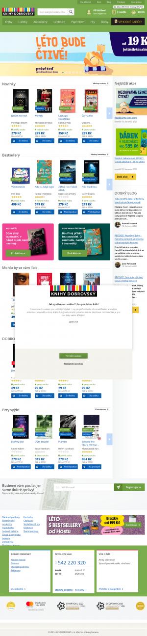 Vzled internetové stránky obchodu Knihy Dobrovský