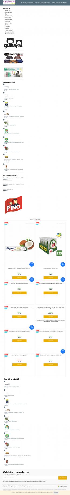 Vzled internetové stránky obchodu Trifolia.shop