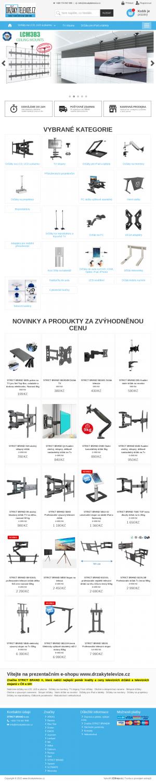 Vzled internetové stránky obchodu Drzakytelevize.cz