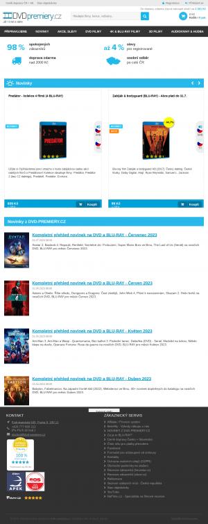 Vzled internetové stránky obchodu DVD premiery.cz