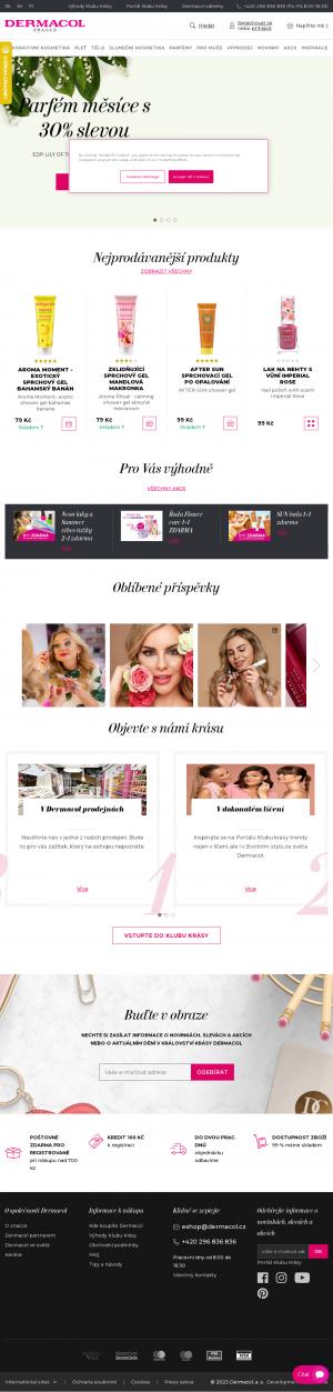Vzled internetové stránky obchodu Dermacol