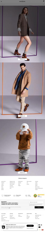 Vzled internetové stránky obchodu Wojas