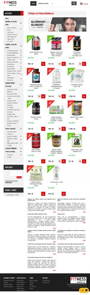 Vzled internetové stránky obchodu FitnessOnline.cz